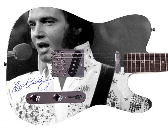 Elvis Presley Facsimile Signature  Custom Graphics Guitar