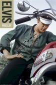 Elvis Presley Autographed Facsimile Signed Harley Davidson Motorcycle Poster