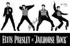 Elvis Presley Autographed Facsimile Signed Jailhouse Rock Poses Poster