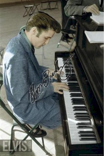 Elvis Presley Autographed Facsimile Signed Piano Poster