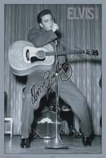 Elvis Presley Autographed Facsimile Signed Tiptoe Dance Poster