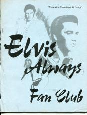 Elvis Presley Elvis Always Fan Club July August 1988 Magazine