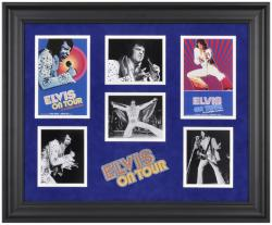 PRESLEY, ELVIS FRAMED Photo (ELVIS ON TOUR) COLLAGE w/LOGO