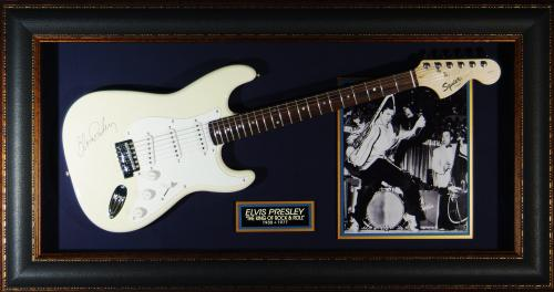 Elvis Presley - Laser Engraved Signature Framed Guitar
