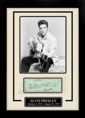 Elvis Presley Facsimile Signed Autographed Personal Check Framed 8x10 Display