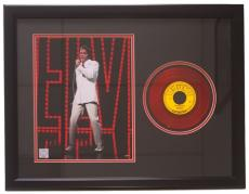 Elvis Presley Framed 20x27 Good Rockin' Tonight Red 45 Record Collage