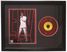 Elvis Presley Framed 20x27 Mystery Train Red 45 Record Collage