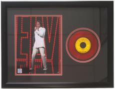 Elvis Presley Framed 20x27 She's Gone Red 45 Record Collage