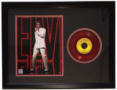 Elvis Presley Framed 20x27 That's All Right Red 45 Record Collage