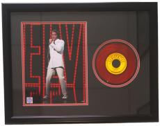 Elvis Presley Framed 20x27 You're A Heartbreaker Red 45 Record Collage