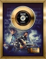 Elvis Presley Framed Blue Suede Shoes 24K Gold Record Collage