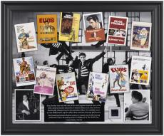 Elvis Presley Elvis In Hollywood Framed Collage with Suit Piece