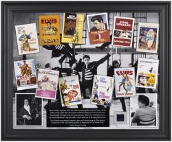Elvis Presley Elvis In Hollywood Framed Collage with Suit Piece