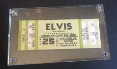 ELVIS PRESLEY Full CONCERT TICKET Cumberland Arena N.C 8/25 1977 AUTHENTIC MINT
