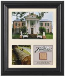 Elvis Presley Graceland Framed Presentation With Graceland Tree Piece-Limited Edition of 1957