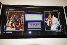Elvis Presley Hand Signed Autographed Bank Check Psa Dna Psa/dna Loa Framed!!