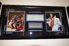 Elvis Presley Hand Signed Autographed Bank Check Psa Dna Psa/dna Loa Framed!!