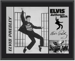 PRESLEY, ELVIS (JAILHOUSE ROCK) SUBLIMATED Photo PLQ (10x13 BOARD)