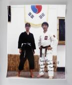 Elvis Presley Karate Instructor – Kang Rhee Signed, Inscribed 16×20 Photo feat. Priscilla Presley