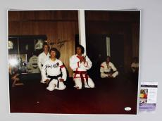 Elvis Presley Karate Instructor – Kang Rhee & Wayne Carmen Signed, Inscribed 16×20 Photo JSA COA