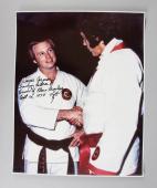 Elvis Presley Karate Instructor – Wayne Carmen Signed, Inscribed 16×20 Photo JSA COA