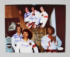 Elvis Presley Karate Instructors Kang Rhee & Wayne Carmen Signed & Inscribed 8×10 Photo JSA Full Letter
