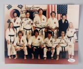 Elvis Presley Karate Instructors Kang Rhee & Wayne Carmen Signed & Inscribed 8×10 Photo JSA Full Letter