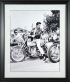 Elvis Presley Harley-Davidson Motorcycle 16x20 Photo Framed