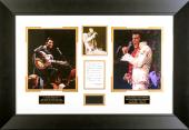 Elvis Presley 1972 Concert WORN Scarf Framed Display