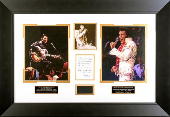 Elvis Presley 1972 Concert WORN Scarf Framed Display
