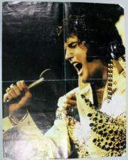 Elvis Presley Signed 21.5x27.5 Color Poster Autograph Jsa #x44479