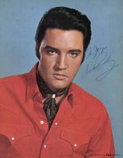 Elvis Presley Signed Autographed 8x10 RCA Color Photograph Beckett BAS MINT 9