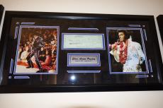 Elvis Presley Signed Autographed Personal Check Matted & Framed Psa Dna Coa