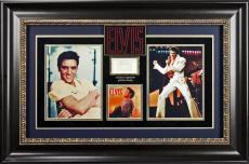 Elvis Presley Signed & Framed 1.75x2.25 Cut Signature PSA/DNA #AB08153