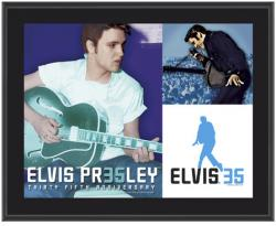 PRESLEY, ELVIS (35 ANNIVERSARY) SUBLIMATED Photo PLAQUE (10x13 BOA