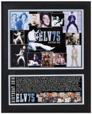 Elvis Presley Sublimated 12x15 Player 75th Birthday Plaque