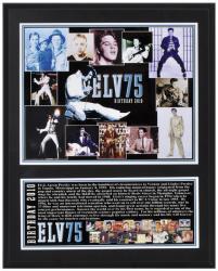 Elvis Presley Sublimated 12x15 Player 75th Birthday Plaque