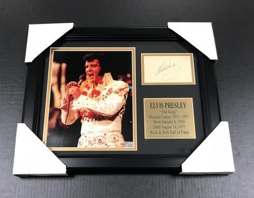 ELVIS PRESLEY THE KING #1 Autographed Facsimile Reprint Framed 8x10 Photo