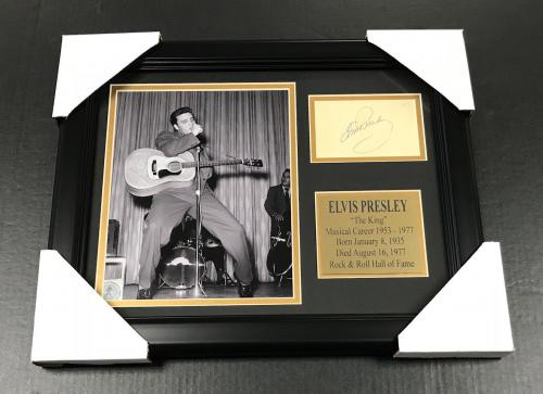 ELVIS PRESLEY THE KING #2 Autographed Facsimile Reprint Framed 8x10 Photo