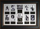 Elvis Presley unsigned Rock Legends Vintage 10 Photo Engraved Signature Series Leather Framed 27x39 (entertainment)