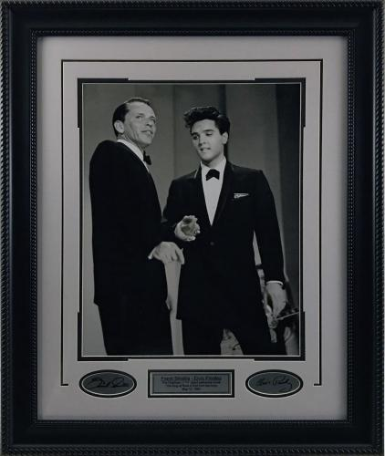 Elvis & Sinatra Framed 16x20 Photo w/ Laser Signatures