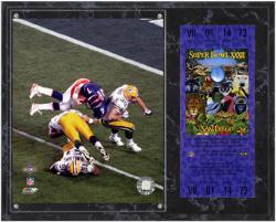 John Elway Denver Broncos Super Bowl XXXII Sublimated 12x15 Plaque with Replica Ticket