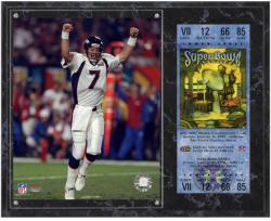 John Elway Denver Broncos Super Bowl XXXIII Sublimated 12x15 Plaque with Replica Ticket - Mounted Memories