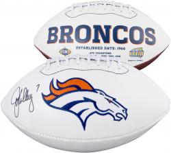 John Elway Autographed Broncos Football