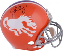 John Elway Signed Denver Broncos Authentic 1966 Orange Throwback Helmet