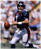 "John Elway Denver Broncos Autographed 16"" x 20"" Looking To Pass Photograph"