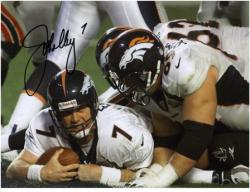 "John Elway Denver Broncos Autographed 8"" x 10"" vs Atlanta Falcons Photograph"