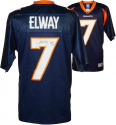 """John Elway Autographed Broncos """"HOF"""" Jersey"""