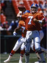 "John Elway Denver Broncos Autographed 8"" x 10"" Releasing Ball Photograph"