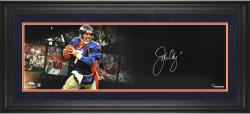 John Elway Denver Broncos Framed Autographed 10'' x 30'' Film Strip Photograph - Mounted Memories